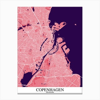 Copenhagen Pink Purple Canvas Print