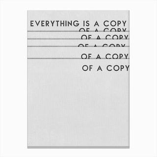 Copy of A Copy Canvas Print