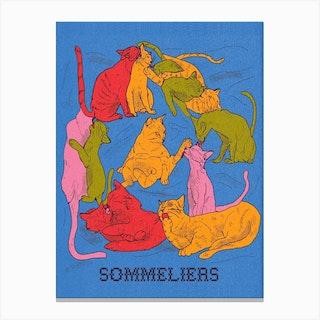 Gatos Sommeliers Canvas Print