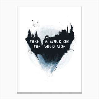 Walk On The Wild Side Canvas Print