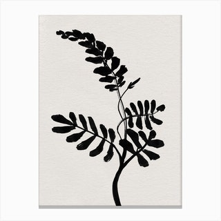 Mono Flower 2 Canvas Print
