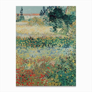 Garden In Bloom Arles July 1888 Canvas Print
