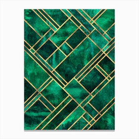 Emerald Blocks Canvas Print