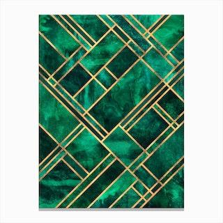 Emerald Blocks Canvas Print