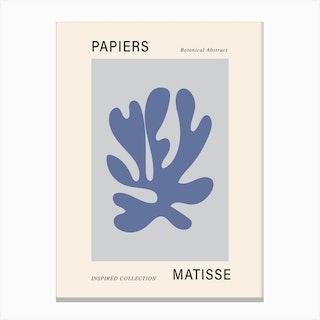 Matisse Cutout Blue Poster Wall Art Canvas Print