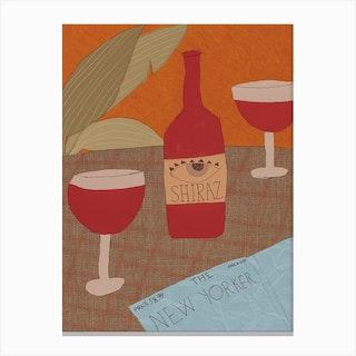 Quarantine Wine Canvas Print