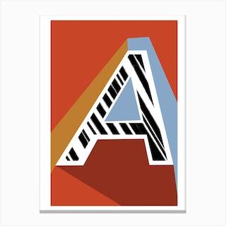 A Geometric Font Canvas Print
