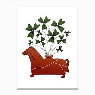 Fiesole Horse Vessel Canvas Print