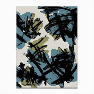 Teal And Khaki Canvas Print