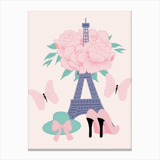 Fashion Paris Canvas Print