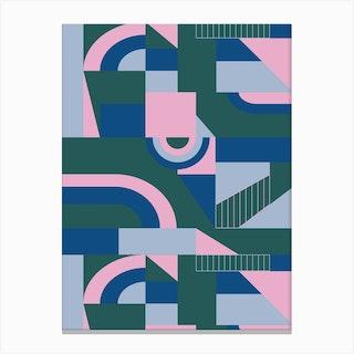 Outlandish Blocks Canvas Print