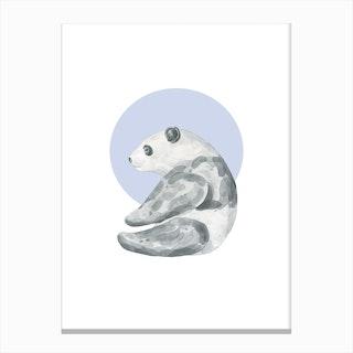 Watercolour Panda Canvas Print