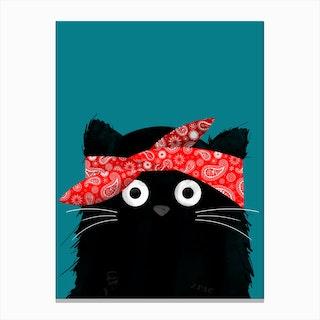 Cat Tupac Canvas Print