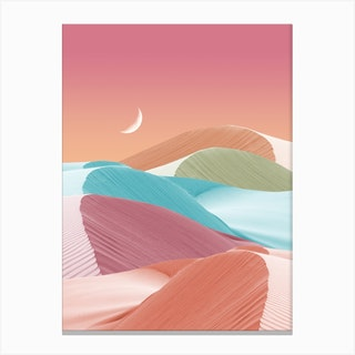 Watermelon Mint Summer Canvas Print