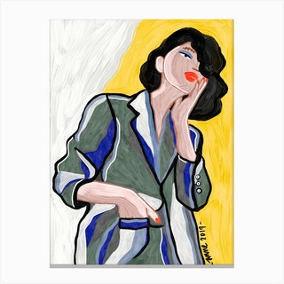 Office Girl Canvas Print