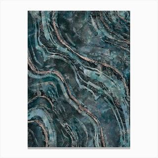 Gemstone Mix Dark Teal Canvas Print