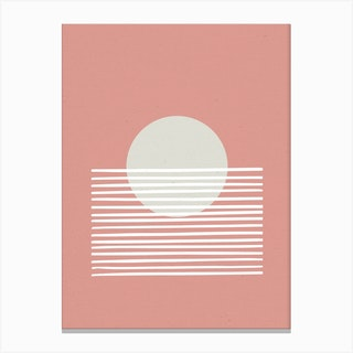 Sunset Abstract Pink Canvas Print