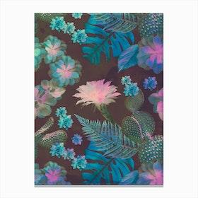 Exotic Gloomy Garden Canvas Print