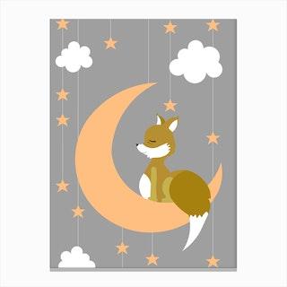 Kids Fox I Canvas Print