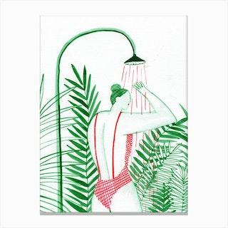 Tropical Shower Canvas Print