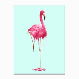 Melting Flamingo Canvas Print
