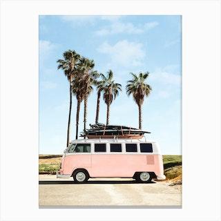 Venice Beach Bus Canvas Print