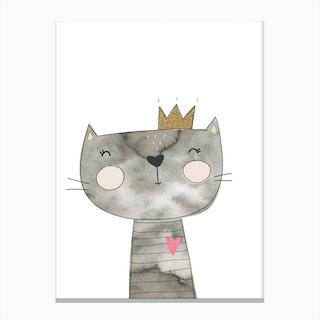 Grey Cat Canvas Print