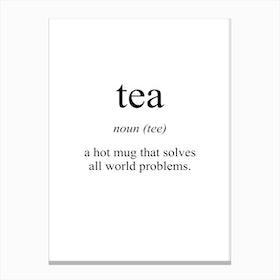 Tea Meaning Print Canvas Print