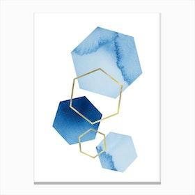 Blue Geometric Canvas Print