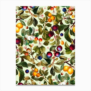 Vintage Fruit Pattern 21 Canvas Print