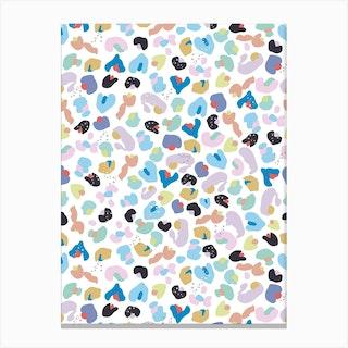 Baby Leopard Pattern Canvas Print
