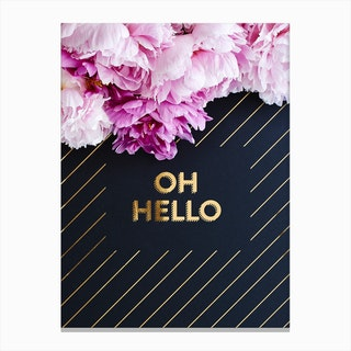 Oh Hello Flowers Canvas Print