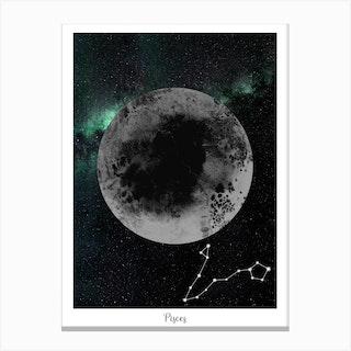 Zodiac Pisces Canvas Print