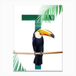 T Toucan Canvas Print