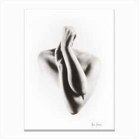 Nude Woman Charcoal Study 55 Canvas Print
