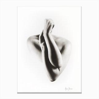 Nude Woman Charcoal Study 55 Canvas Print