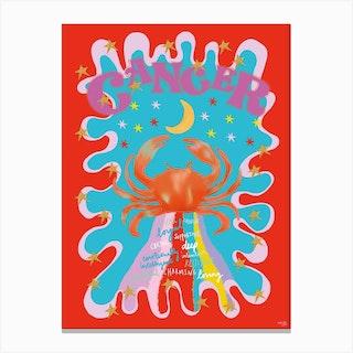 Cancer Zodiac Starsign Canvas Print