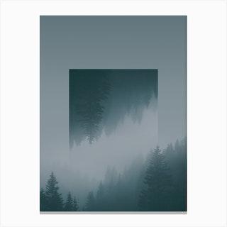 Landscapes Mirrored 1 Karwendel Austria Canvas Print