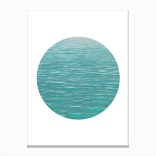 Sea Circle Canvas Print