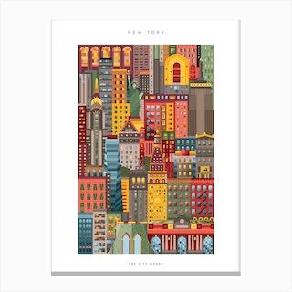 New York City Colour Canvas Print