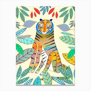 Tiger Colourful Canvas Print