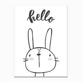 Hello Bunny Canvas Print