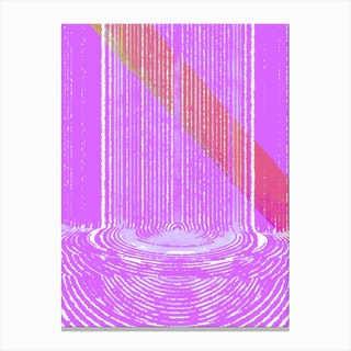 Candy Waterfall Canvas Print