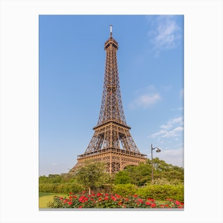 Idyllic Paris View Canvas Print