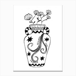 Aquarius Vase Canvas Print
