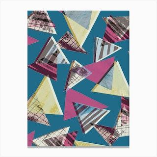 80s Triangles Canvas Print