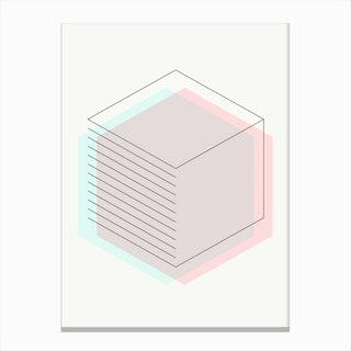 3d Hexagon Canvas Print