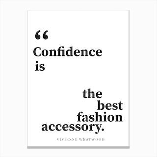 Confidence Quote Canvas Print