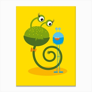 Monster Friends I Canvas Print