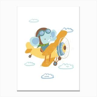 Pilot Elephant Canvas Print